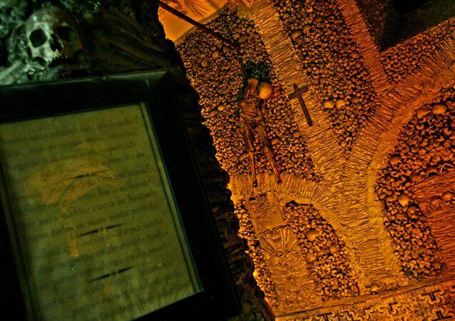 Capela dos Ossos em Évora, Portugal.