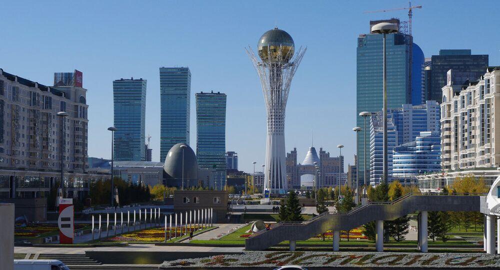 Centro de Astana, capital do Cazaquistão