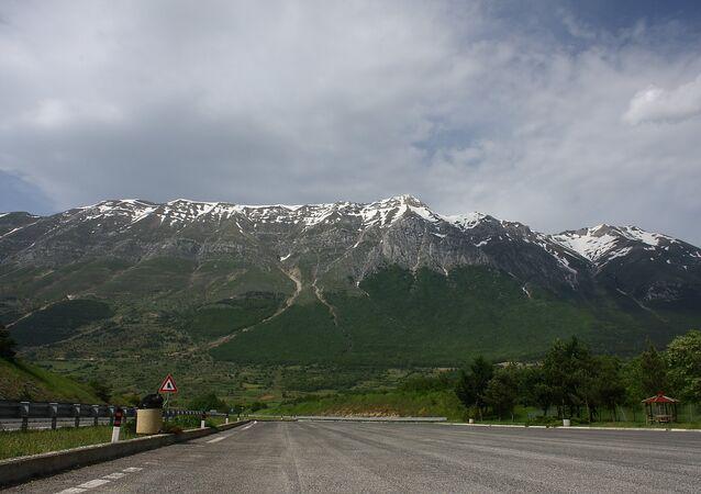 Montanhas de Gran Sasso, na Itália