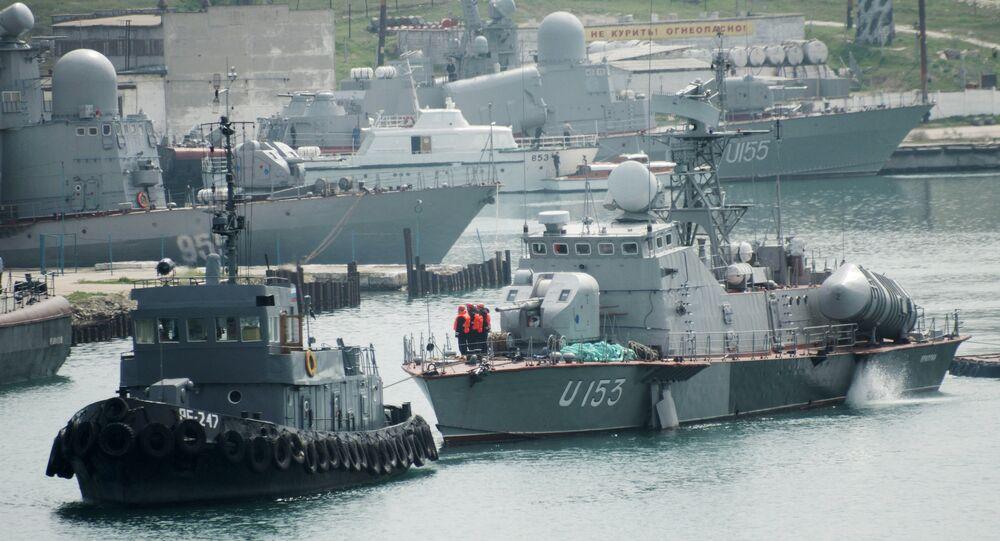Barco de mísseis Priluki da Marinha da Ucrânia