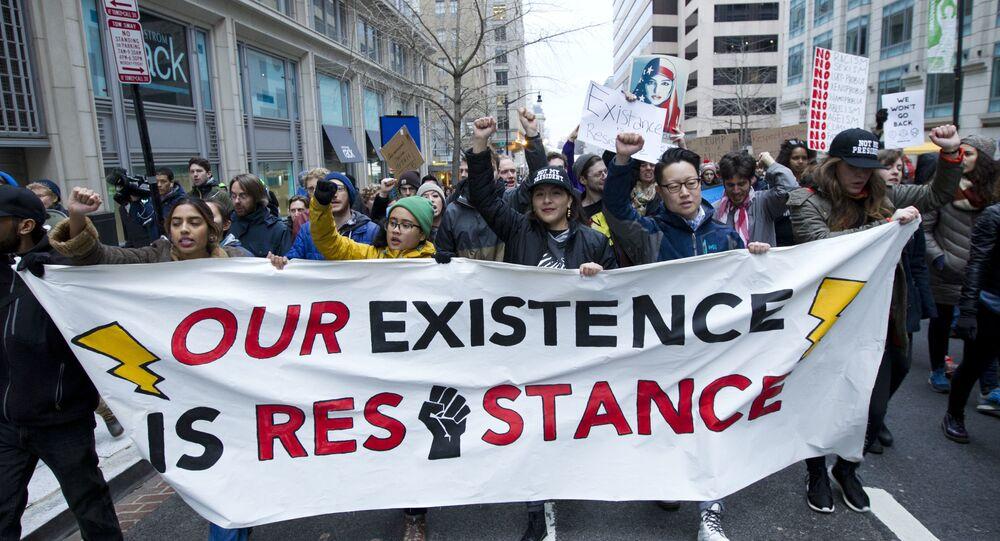 Protestos na posse de Donald Trump