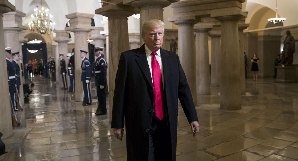 Donald Trump, presidente norte-americano, no Capitólio dos Estados Unidos, em Washington DC (arquivo)