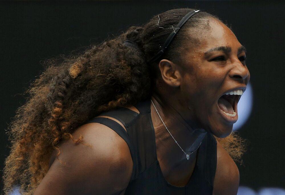 Serena Williams no jogo de tênis em Melbourne, Austrália