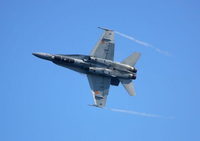 Caça F/A-18 da Força Aérea espanhola