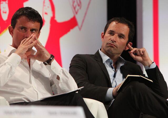 Manuel Valls e Benoit Hamon