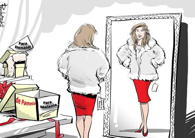 Para os Trumps: casaco de pele russo