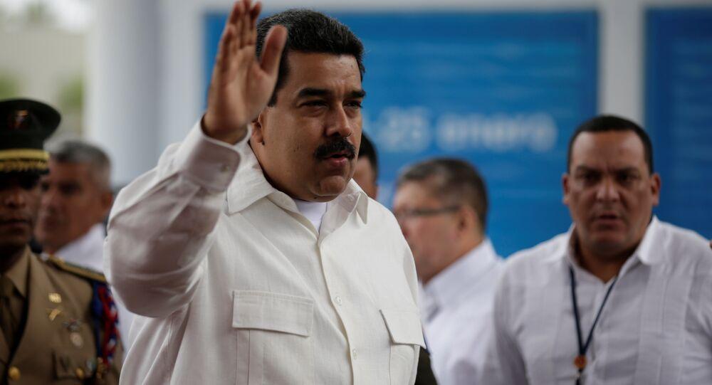 Presidente venezuelano, Nicolás Maduro, discursa na cúpula da CELAC, em 25 de janeiro de 2017