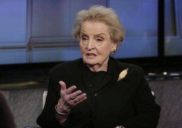 A ex-secretária de Estado norte-americana, Madeleine Albright