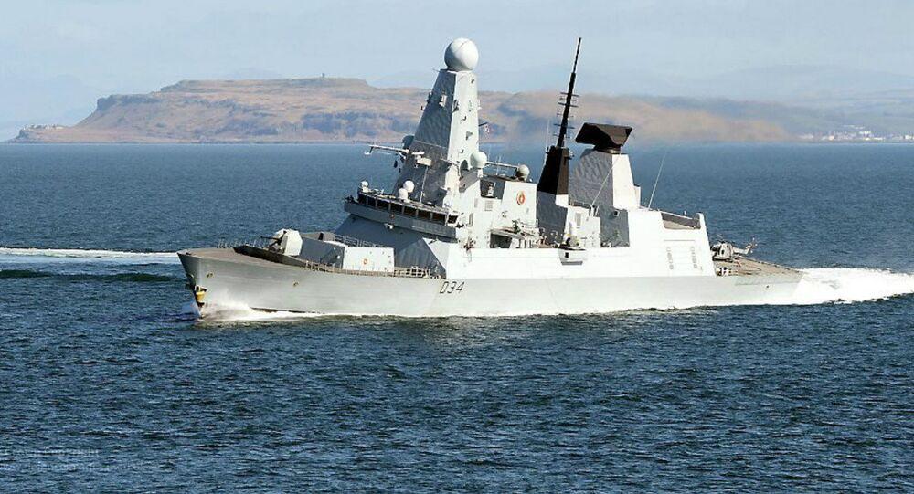 Destroier da Marinha Real Britânica (imagem referencial)