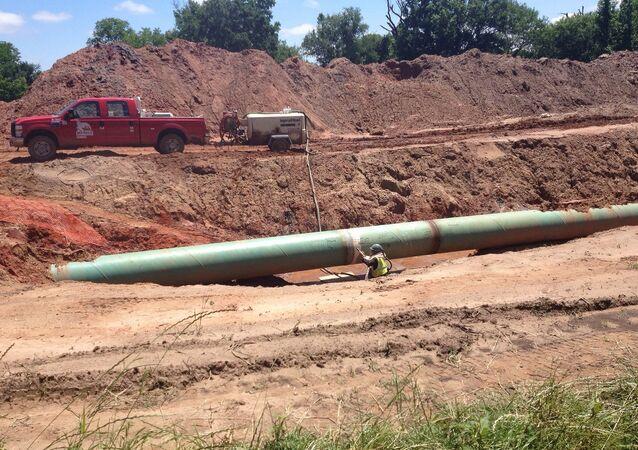 Oleoduto Keystone XL em Dakota do Norte, EUA