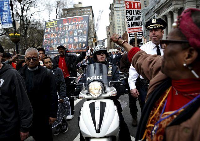 Protestos contra ações da polícia em Nova York