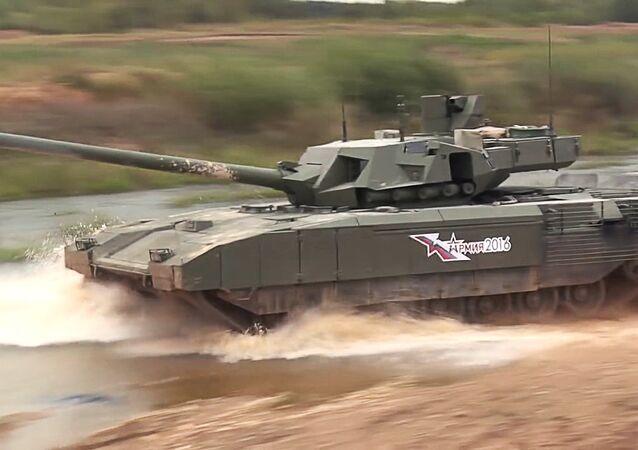Demonstração do tanque T-14 Armata