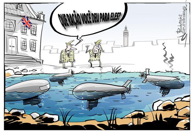 Coitados peixinhos da Marinha britânica!