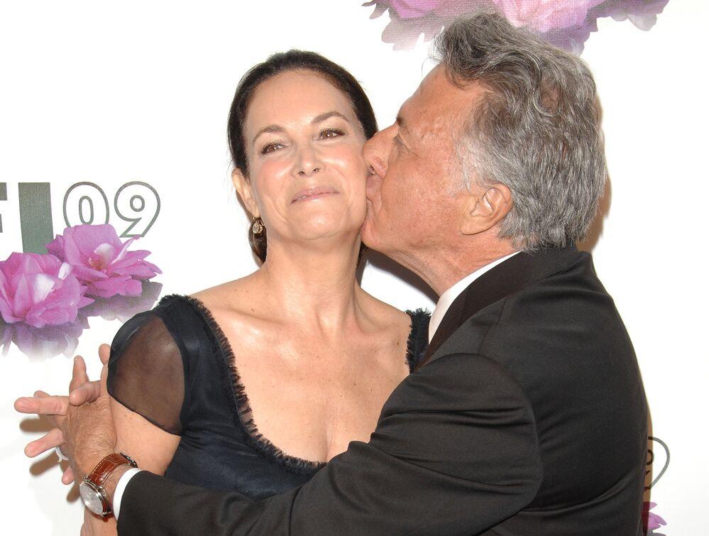 Ator americano Dustin Hoffman e sua esposa Lisa