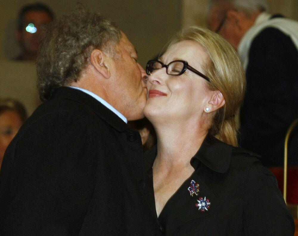 Atriz americana Meryl Streep com o marido Don Gummer