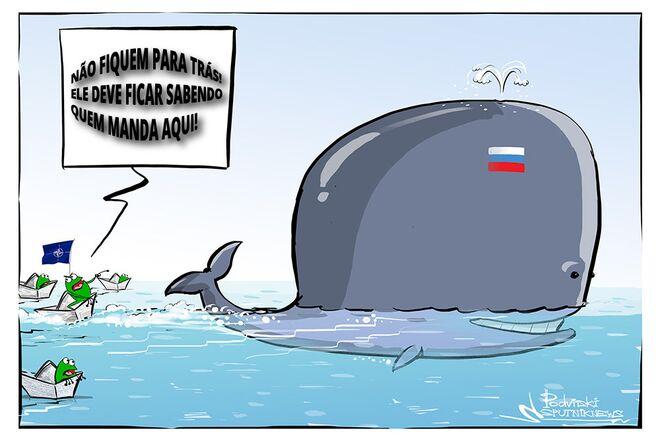 Navios da OTAN escoltam o porta-aviões russo Admiral Kuznetsov