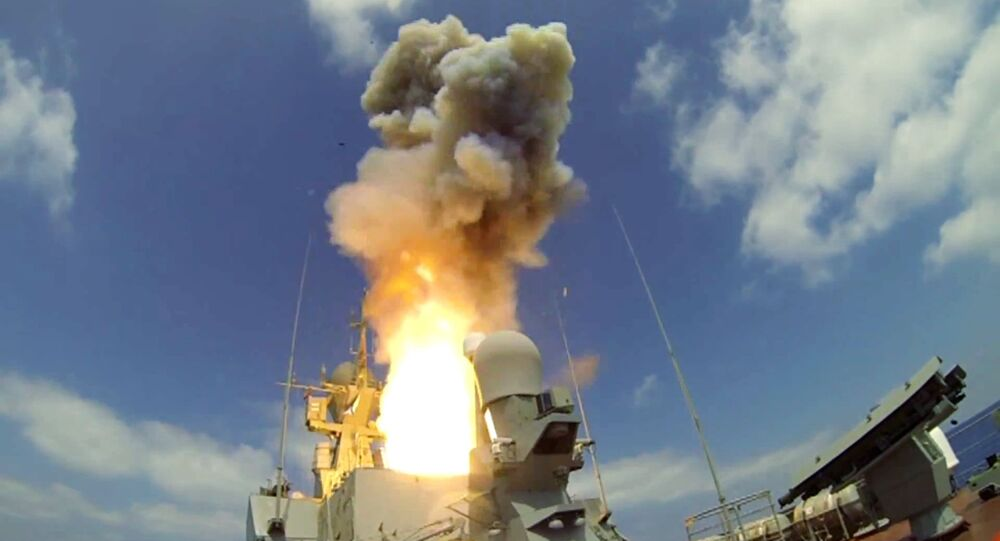 Lançamento de mísseis de cruzeiro Kalibr (foto de arquivo)