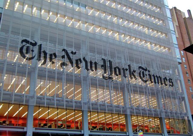 Prédio do jornal The New York Times, em Nova York