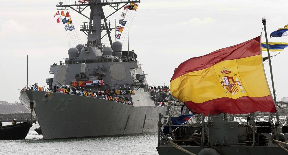 The guided-missile destroyer USS Donald Cook arrives at Naval Station Rota, Spain, on Tuesday, Feb. 11, 2014.