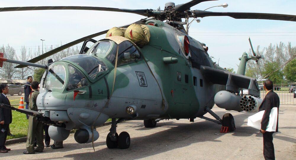 Helicóptero russo Mi-35 na LAAD 2011