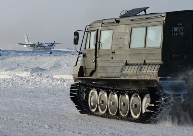 Equipamento militar russo no Ártico (arquivo)