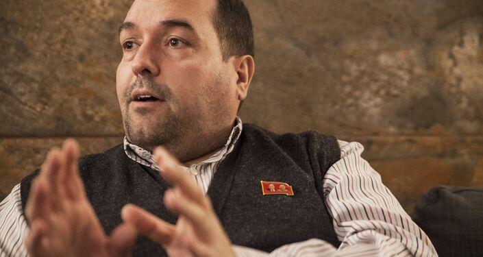 Alejandro Cao de Benós durante sua entrevista ao Sputnik Mundo.