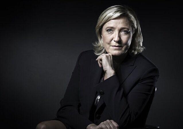 Candidata à presidência francesa pela Frente Nacional, Marine Le Pen