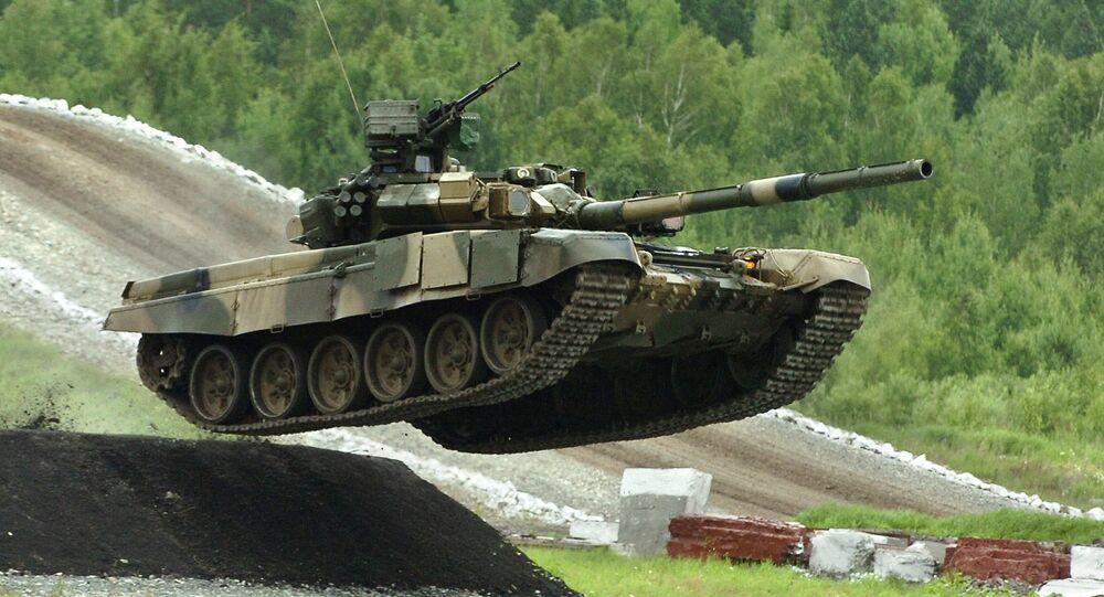 Tanque T-90S em exposição em Nizhny Tagil (foto de arquivo)