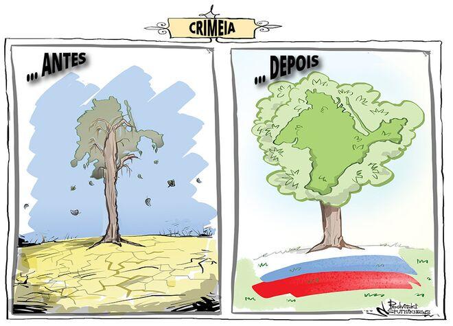 """A Crimeia mostrou um nível de rendimentos quase o dobro em comparação com o """"período ucraniano"""""""