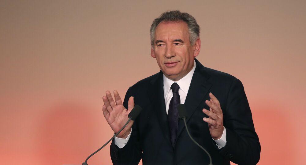 François Bayrou, líder do MoDem e prefeito da cidade francesa de Pau