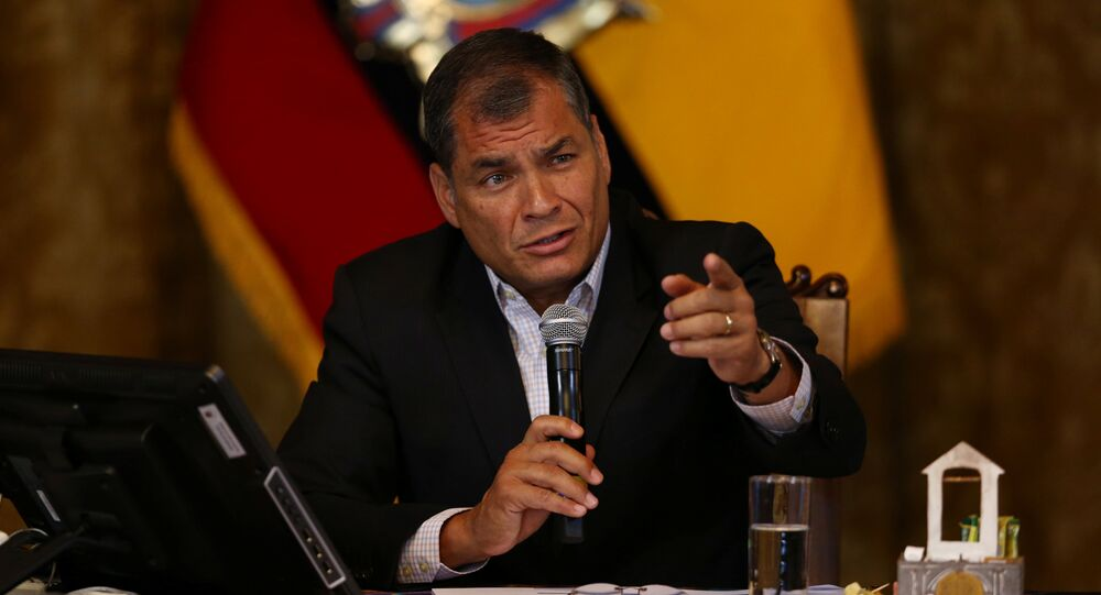 Ex-presidente do Equador, Rafael Correa