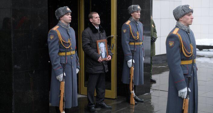 Cerimônia de despedida do embaixador russo na ONU, Vitaly Churkin