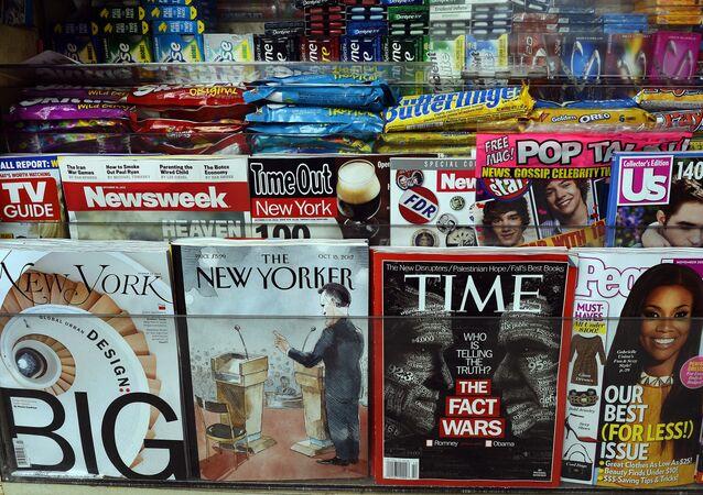 Maiores revistas e tabloides norte-americanos