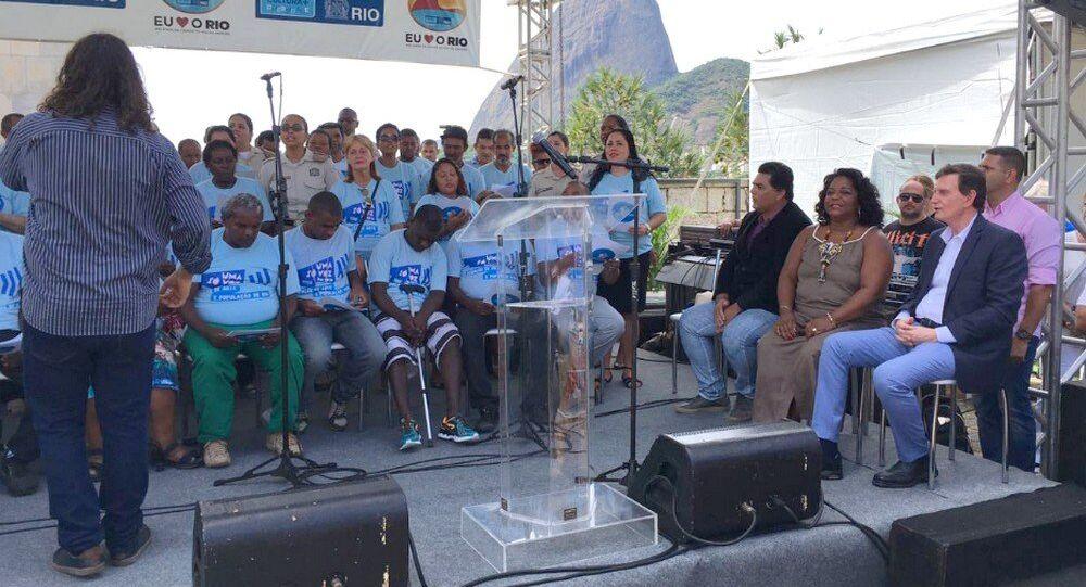 Nos 452 anos do Rio, prefeito Crivella assiste ao concerto da banda da Guarda Municipal e do grupo vocal Uma Só Voz