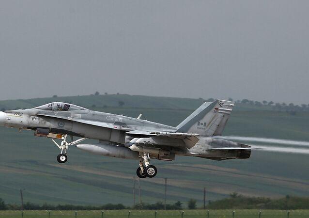 Jato F-18 Hornet da Força Aérea canadense