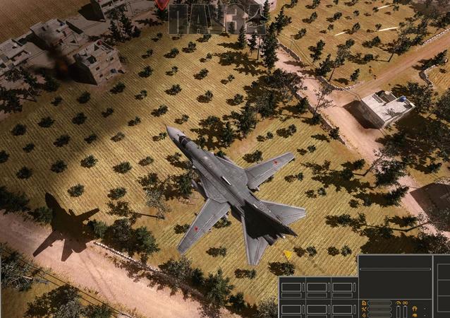 Avião que aparece em um dos fragmentos do videojogo Syrian Warfare