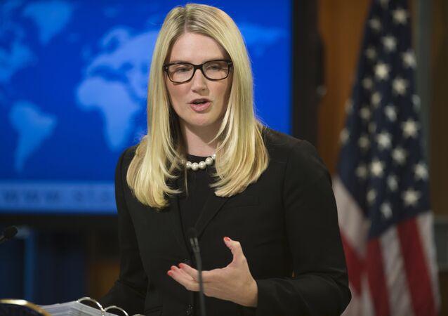 Marie Harf, porta-voz do Departamento de Estado dos EUA