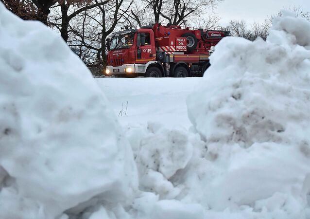 Alud de nieve en Italia (archivo)