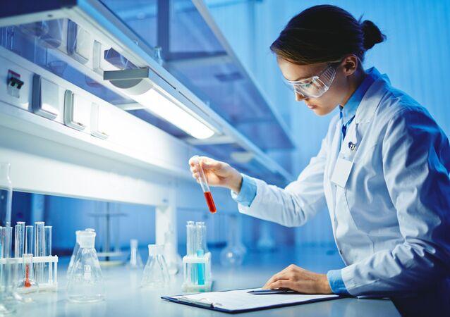 Cientista no laboratório