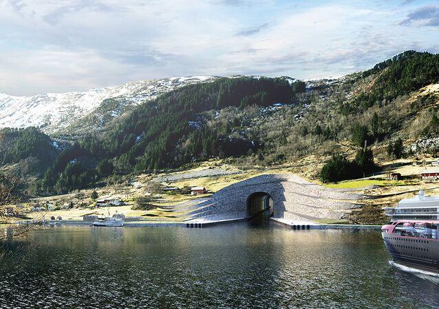O túnel de Stad na Noruega