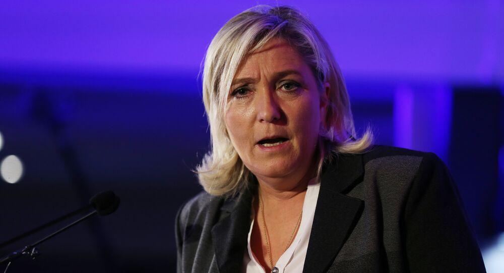 Marine Le Pen, candidata presidencial francesa