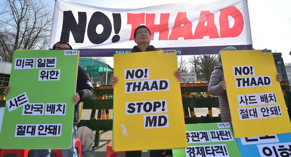 Sul-coreanos protestam contra sistemas THAAD