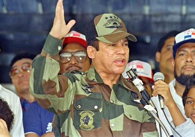 General Manuel Antonio Noriega, em 20 de maio de 1988, na Cidade do Panamá