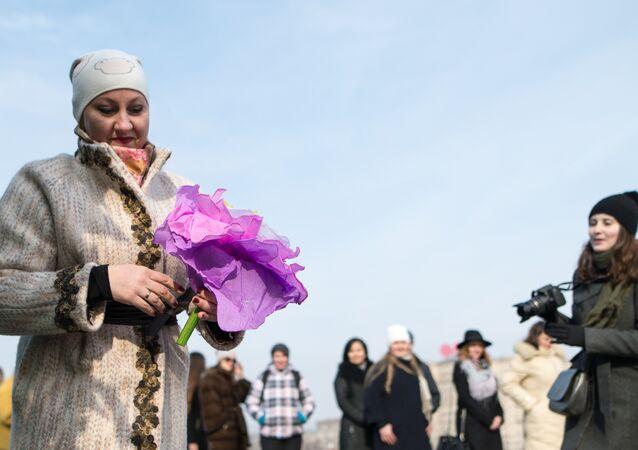 Dia Internacional das Mulheres em Moscou