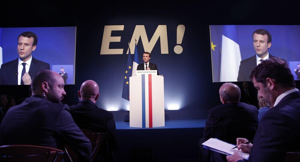 Emmanuel Macron, ´presidente da França pelo partido A República em Marcha