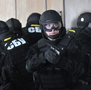 Combatentes do Serviço de Segurança da Ucrânia (SBU, na sigla em ucraniano)