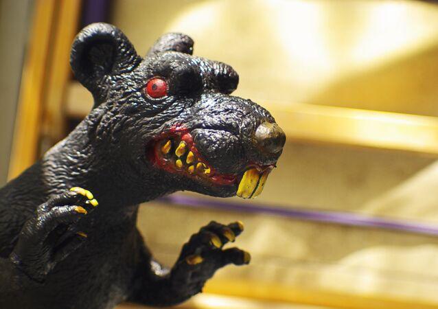 Estátua de um rato