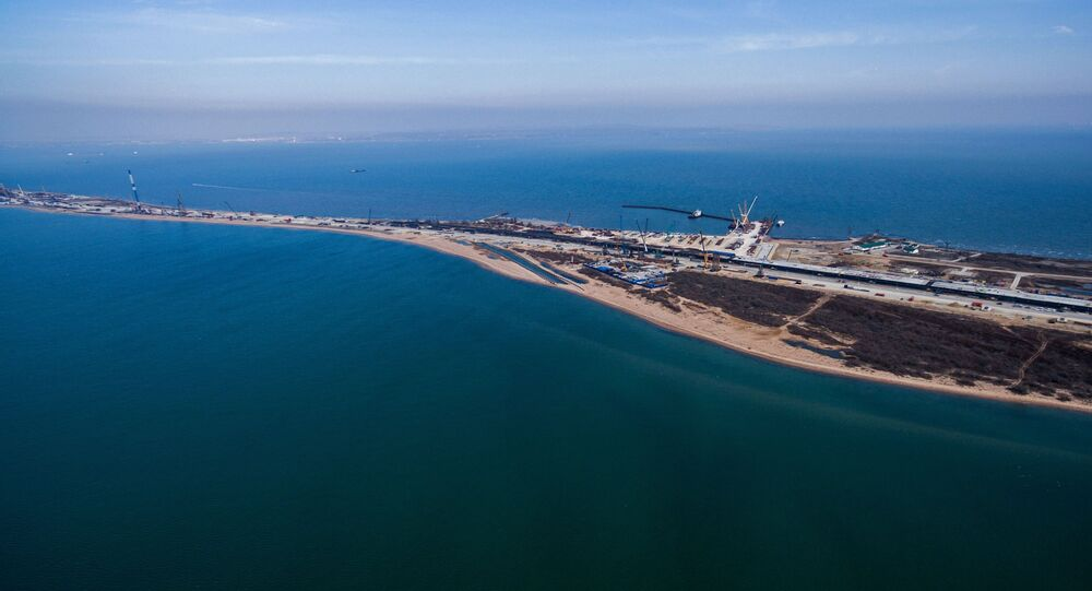 Ponte da Crimeia em construção