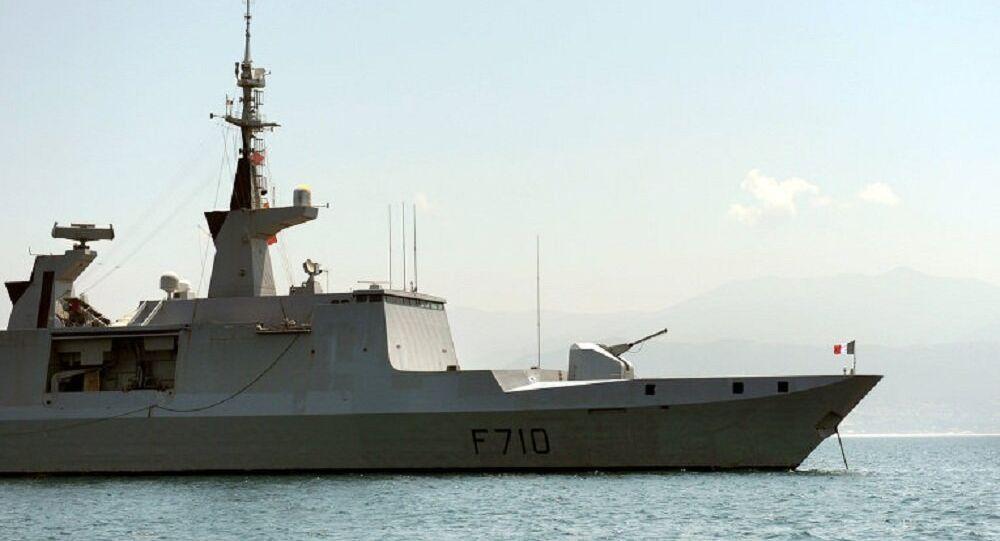 Fragata de classe La Fayette da Marinha da França (foto de arquivo)