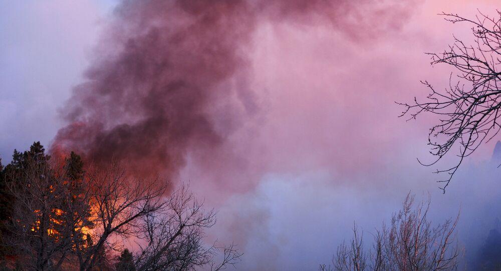Incêndio atinge floresta em montanhas dos EUA (arquivo)